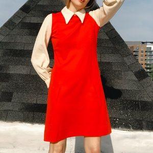 $45 ⬇️ [Vintage] Mod Colorblock LS Sabrina Dress